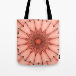 4655 Intimate Sexual Mandala Nude Female Enter Naked Closeup Vulva Abstracted Sensual Sexy Erotic Tote Bag