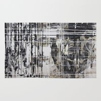 nicolas cage Area & Throw Rugs featuring Cage by George Lockyer