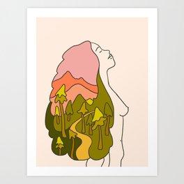 Trail Woman Art Print