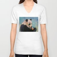 ice cream V-neck T-shirts featuring Ice Cream by Michael Creese