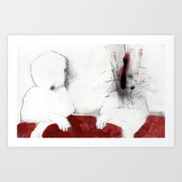 When the things I didn't say exploded my head Art Print