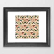Day 18/25 Advent - Santa's Slaves II Framed Art Print