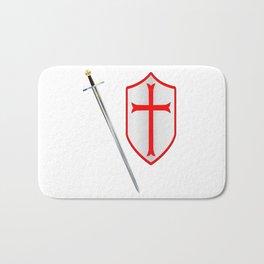 Crusaders Sword and Shield Bath Mat