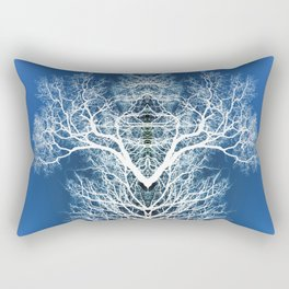 Silhouetted tree pattern Rectangular Pillow