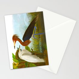 Purple Heron Stationery Cards