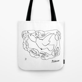 Pablo Picasso Peace And Freedom Dove Artwork T Shirt, Reproduction Sketch Tote Bag