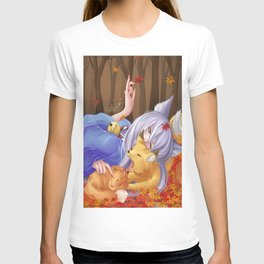Gugure! Kokkuri-san Foxes T-shirt