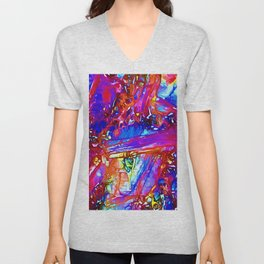 Jewel Tone Gemstone Impressions Unisex V-Neck