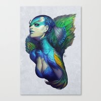 queen Canvas Prints featuring Peacock Queen by Artgerm™