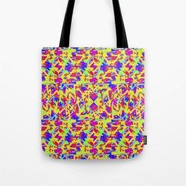 Multicolored Linear Pattern Design Tote Bag