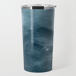Galaxy : Pleiades Star Cluster NeBula Steel Blue Travel Mug