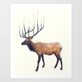 Elk // Reflect (Left) Art Print
