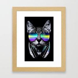 Dj Cat Framed Art Print
