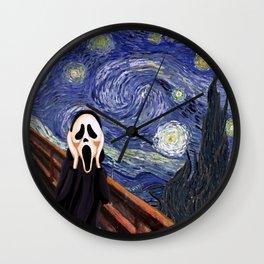 Scream Scary movie Wall Clock