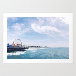 Cali Summer Vibe Art Print