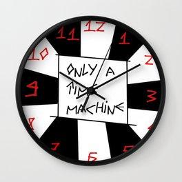 Time machine -psychedelic,relativy,fun,crack, irregular,original,geometry,trip,time travel Wall Clock