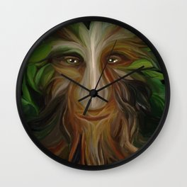 The Green Man (Old & Wise) Wall Clock