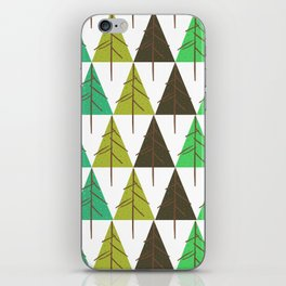 Seamless pattern. Christmas tree. iPhone Skin