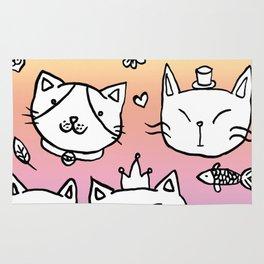 Cat doodles Rug