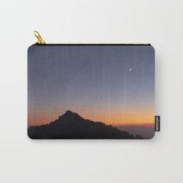 Venus and the Moon. Sierra Nevada at sunset Carry-All Pouch