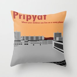 Pripyat City Square #2 Throw Pillow