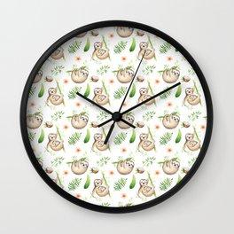 Coconut Sloth Wall Clock
