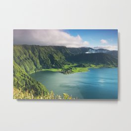 Vulcanic lake on the Azores island in Portugal Metal Print