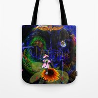 pocket fuel Tote Bags featuring Fuel by Joseph Mosley