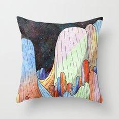 coral Mountains Throw Pillow