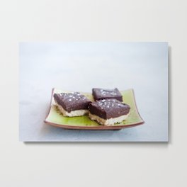 Chocolate Dulce de Leche Bars Metal Print