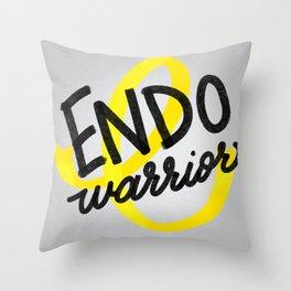 ENDO Warrior - Endometriosis Awareness Art - Advocate Throw Pillow