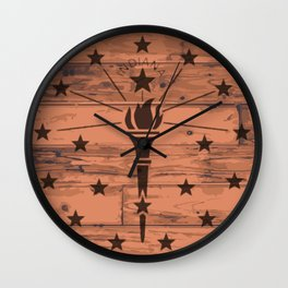 Indiana State Flag Brand Wall Clock