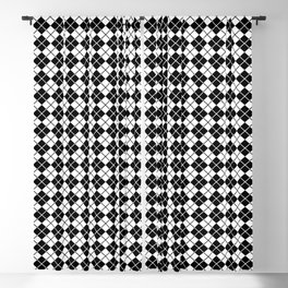Argyle in Black-White Blackout Curtain