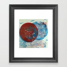 Outer Space Gelli Framed Art Print