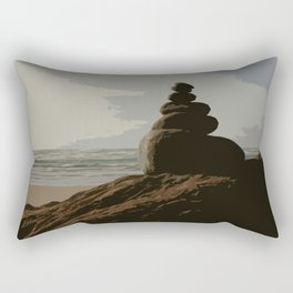Stacked Rocks Rectangular Pillow