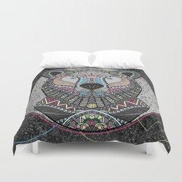 Neon Tribal Bear Duvet Cover