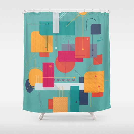 Thinking Of Summer Shower Curtain