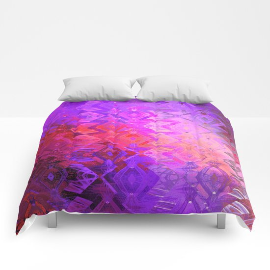 Edged Momentum (purple) Comforters