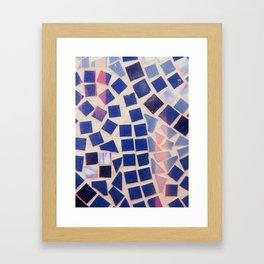 Tile Table Framed Art Print