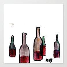 Wine Bottles 1 Canvas Print