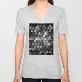 as the curtain falls (monochrome series) Unisex V-Neck