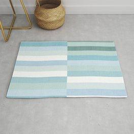 Color Block Stripe in Mint Blue Rug
