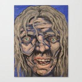 Ragged face Canvas Print