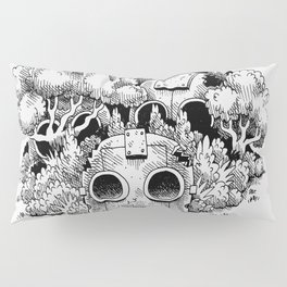 Abandoned Robot Junkyard in the Forest Pillow Sham