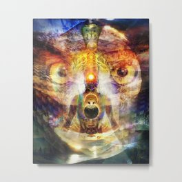 Piercing Focus Metal Print