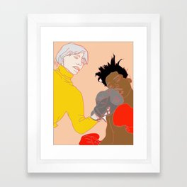 Warhol and Basquiat - Boxing Gloves 1985 - Warm Tones Framed Art Print