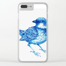Blue sparrow Clear iPhone Case