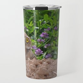 Owl and Butterfly Travel Mug