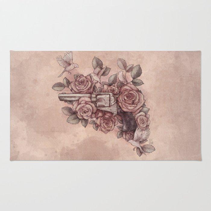 Guns & Flowers Rug