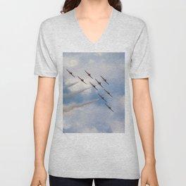 The Snowbirds in flight Unisex V-Neck